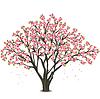 일본 벚꽃 나무 꽃 | Stock Vector Graphics