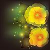 꽃 양귀비 배경, 인사말 또는 초대 카드 | Stock Vector Graphics