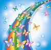 빛 다채로운 무지개 배경 | Stock Vector Graphics