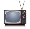 Realistische vintage TV, retro