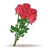 아름다운 빨간 장미 꽃다발 | Stock Vector Graphics
