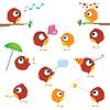 ID 3639468 | Канарейки птица набор | Векторный клипарт | CLIPARTO