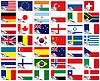 Flagge der Welt Set