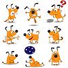Lustige Hunde eingestellt | Stock Vektrografik
