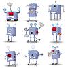 Lustige Roboter Set | Stock Vektrografik