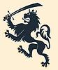 Heraldischen Löwen