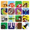 Insect icons set | Stock Vektrografik