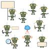 militärische Roboter Set