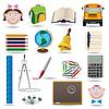 Schule und Ausbildung icon set