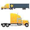 Heavy cargo truck | Stock Vector Graphics