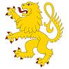 ID 3691644 | Stehend Heraldic Lion | Illustration mit hoher Auflösung | CLIPARTO