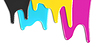 ID 3657036 | CMYK青色品红黄色黑色墨水滴 | 高分辨率照片 | CLIPARTO