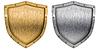 ID 3657075 | Metallschirmen eingestellt Silber und Gold | Foto mit hoher Auflösung | CLIPARTO
