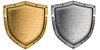 ID 3657076 | Металлические щиты установлены серебра и золота | Фото большого размера | CLIPARTO