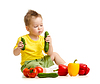 Kid eating healthy food | Stock Foto