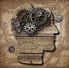 ID 3657305 | Ludzki mózg z biegów zardzewiały metal i świnie | Stockowa ilustracja wysokiej rozdzielczości | KLIPARTO