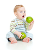 Chłopczyk jedzenie zdrowej żywności | Stock Foto