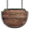 Medieval szyld wiszący na łańcuchach | Stock Foto