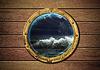 ID 3657539 | Schiff Bullauge mit Sturm draußen | Foto mit hoher Auflösung | CLIPARTO