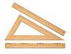 Ustawić drewniane władcy szkolne | Stock Foto