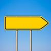 ID 3657674 | Blank gelben Schild, Richtungsanzeiger nach rechts | Foto mit hoher Auflösung | CLIPARTO