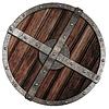 ID 3657721 | 금속 테두리와 함께 오래 된 바이킹 나무 방패 | 높은 해상도 사진 | CLIPARTO