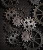 Zardzewiały metal gears background | Stock Foto