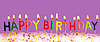 생일 보라색 배경에 촛불을 켜 | Stock Foto