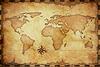 추상 오래 된 그런 지 세계지도 | Stock Illustration