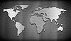 Металл карту мира на решетку гребень фоне | Иллюстрация