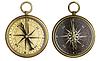 ID 3658502 | Old compass Sammlung. Zwei alte Messing antik | Foto mit hoher Auflösung | CLIPARTO