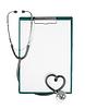 Schowek z Stetoskop w kształcie serca | Stock Foto