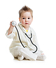 Kid or child playing doctor with stethoscope | Stock Foto