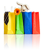 Shopping bags with purchases for family | Stock Foto