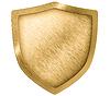 ID 3659066 | Goldenen Metall Schild oder Wappen | Foto mit hoher Auflösung | CLIPARTO