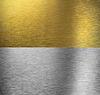 Aluminium i mosiądzu naszytą tekstury | Stock Foto