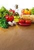 Zdrowe jedzenie na stole | Stock Foto