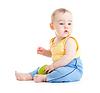 Dziecko jedzenia zdrowej żywności | Stock Foto