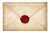 ID 3659544 | Grunge koperta lub list z pieczęcią lakową | Foto stockowe wysokiej rozdzielczości | KLIPARTO
