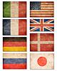 ID 3659545 | Коллекция гранж флагов: США, Великобритания, | Фото большого размера | CLIPARTO