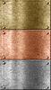 금속 플레이트 청동 (구리), 금 등의 설정 | Stock Foto