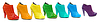 ID 3659829 | Разнообразие всех цветов радуги в лакированной кожи | Фото большого размера | CLIPARTO