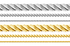 Liny stalowe i złoty zestaw | Stock Foto
