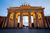 가까이 베를린의 브란덴부르크 문 (Brandenburger 토르) | Stock Foto