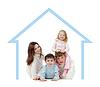 Счастливая семья в своей концепции дома | Фото