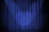 ID 3660780 | Theater blue curtain with two lights cross | Foto stockowe wysokiej rozdzielczości | KLIPARTO