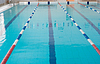 Empty new school swimming pool direct view | Stock Foto