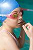 ID 3660989 | Swimmer girl portrait nach Zieleinlauf | Foto mit hoher Auflösung | CLIPARTO