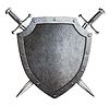 ID 4647057 | Alter Metallabschirmung mit gekreuzten Schwertern | Illustration mit hoher Auflösung | CLIPARTO