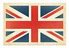 ID 4647727 | Brittish Briefmarke mit Großbritannien Flagge. Cli | Illustration mit hoher Auflösung | CLIPARTO
